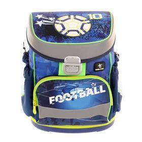 Ранец на замке Belmil Mini-Fit 36*28*17 мал напол: мешок, пенал Soccer Sport, синий