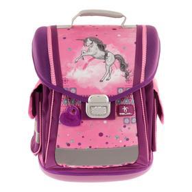 Ранец на замке Belmil Sporty 38*32*21 дев Pinky Unicorn, сиреневый