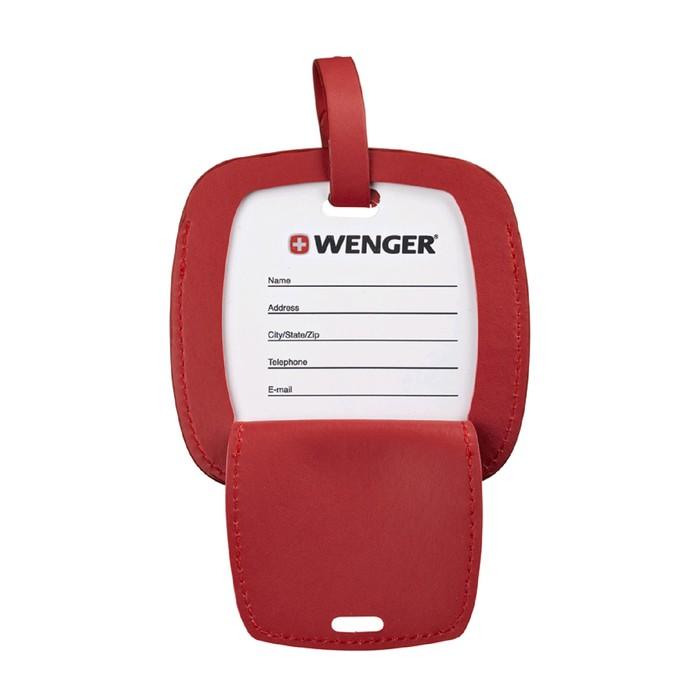Бирка для багажа Wenger, красная, 4,1×4,1×0,4 см