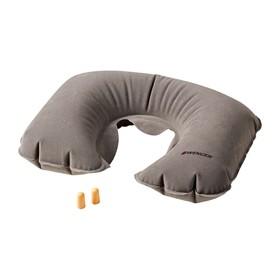 Подушка для путешествий Wenger надувная и беруши, серая, 27×1×46 см