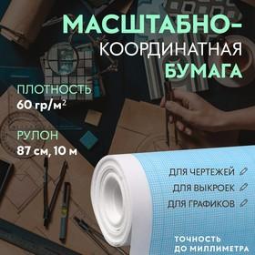 Scale coordinate paper 60g / m² 87cm * 10m, blue