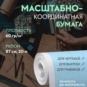 Scale coordinate paper 60g / m² 87cm * 20m, blue