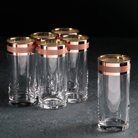 Набор стаканов для коктейля «Ампир», 290 мл, 6 шт, цвет рубин
