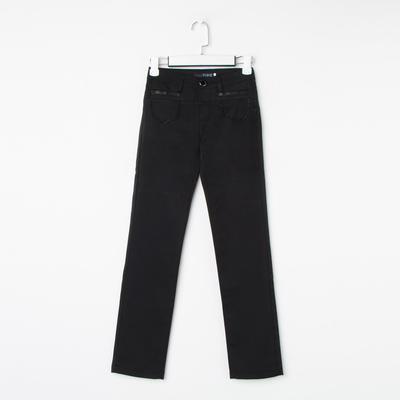 Брюки для девочки, цвет чёрный, рост 134 см (22)
