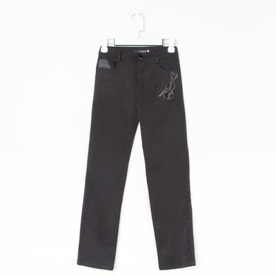 Брюки для девочки, цвет чёрный, рост 116 см (19)