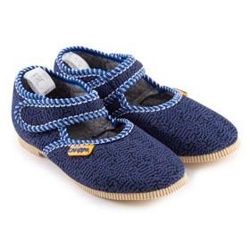 Тапочки детские, цвет синий/штрих, размер 29