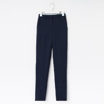 Брюки для девочки зауженные, цвет тёмно-синий, рост 146 см (36/M)