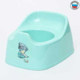Горшок туалетный детский 27х22х15, ME TO YOU, цвет зеленый