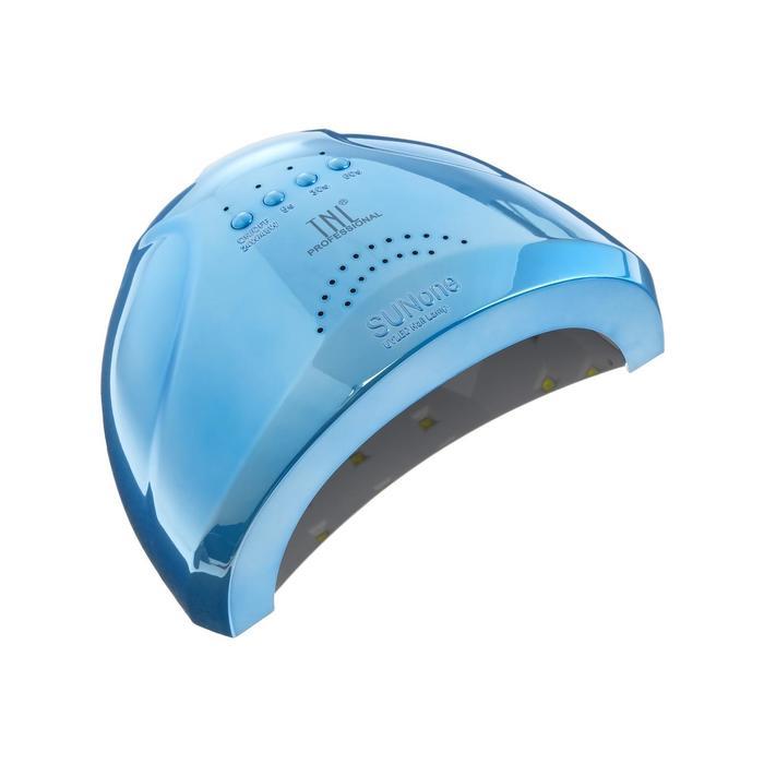 Лампа для гель-лака TNL Shiny, UV/LED, 48 Вт, 30 диодов, таймер 5/30/60 сек, перл.-голубой - фото 745561