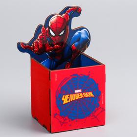 "Органайзер для канцелярии ""Супергерой"", Человек-паук , 65 х 70 х 65 мм"