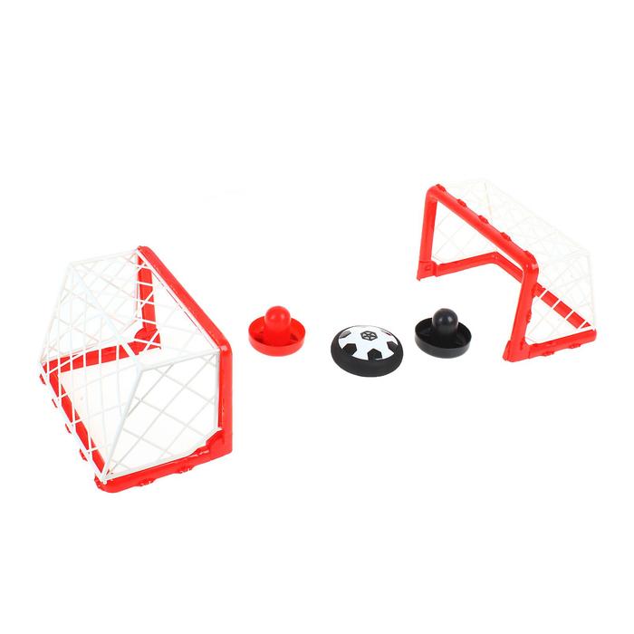 Настольный футбол «Матч», с аэромячом, работает от батареек, в пакете