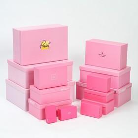 Набор коробок подарочных 15 в 1 «Розовый градиент», 12 х 7 х 4 см - 46,6 х 35,2 х 17.5 см