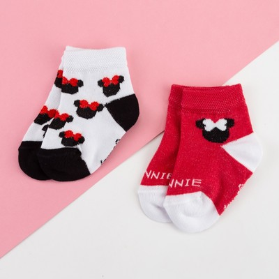 "Набор носков ""Minnie"" Минни Маус, 2 пары, 10-12 см"
