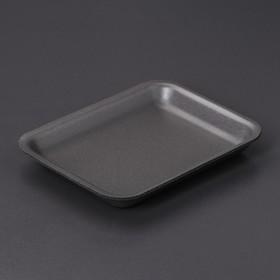 Подложка-лоток одноразовая для продуктов, 17,8×13,5×2 см, 300 шт/уп, цвет чёрный
