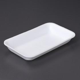 Подложка-лоток одноразовая для продуктов, 22,5×13,5×3,2 см, 250 шт/уп, цвет белый