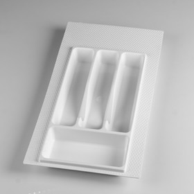 Лоток для столовых приборов 300 мм белый