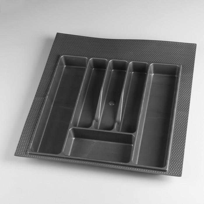 Лоток для столовых приборов 500 мм серый - фото 282123854