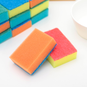 Набор губок для посуда «Макси», 8×6 см, 10+1 шт. (бесплатно)