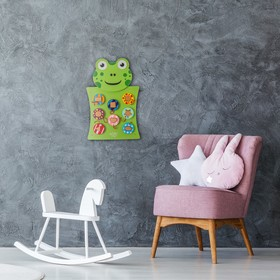 Бизиборд настенный «Лягушка» 55×36×3,5 см