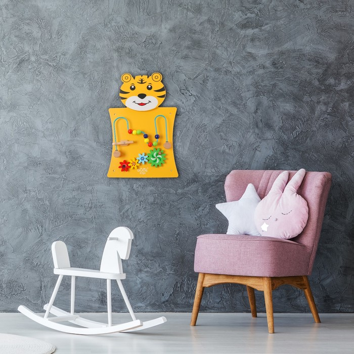 Бизиборд настенный «Тигрёнок» 55×36×6 см - фото 76251038
