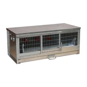 Брудер для цыплят, 100 × 40 × 45 см, с поддоном, кормушкой и поилкой, металлический