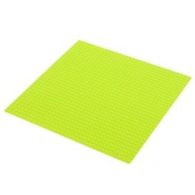 Пластина-основание для конструктора 25,5х25,5 см (диаметр 0,5см), цвет зелёный