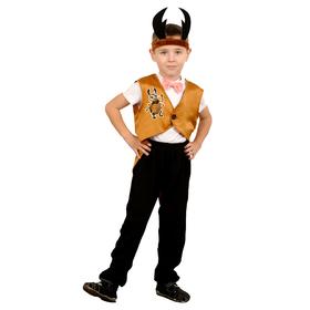 Карнавальный костюм «Жук», фрак, шапка, р. 28-30, рост 98-110 см