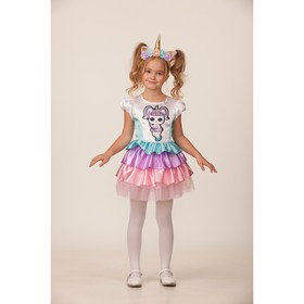 Карнавальный костюм «Единорожка», платье, ободок, р. 26, рост 104 см