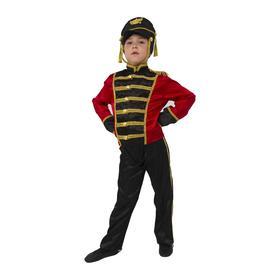 Карнавальный костюм «Гусар», куртка, брюки, головной убор, р. 30, рост 116 см