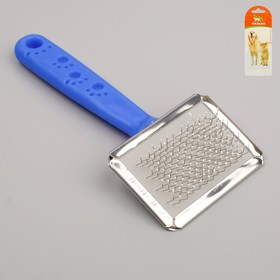 """Slicker brush small """"Foot"""" with a drop of 6 x 12 cm, mix colors"""