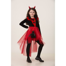 Карнавальный костюм «Дьяволица», платье, ободок, сумочка, р. 30, рост 116 см