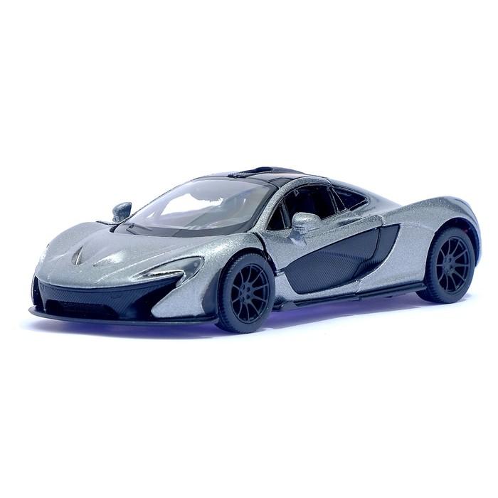 Машина металлическая McLaren P1, масштаб 1:36, открываются двери, инерция, цвет серый - фото 105651170