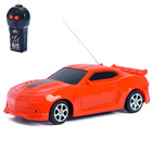 Car RC Mustang is powered by batteries, color red