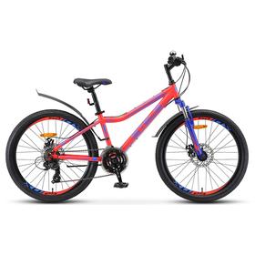 """Велосипед 24"""" Stels Navigator-410 MD, V010, цвет неоновый/красный, размер 13"""""""