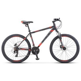 """Велосипед 26"""" Stels Navigator-500 D, F010, цвет черный/красный, размер 16"""""""