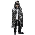 """Carnival coat for Halloween """"Skull medium """", mask, length 86 cm"""