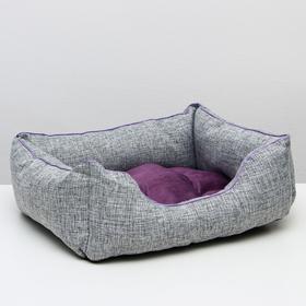 "Лежанка ""Лофт №3"", 56 х 47 х 20 см, фиолетовая"