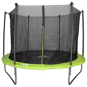 Батут DFC JUMP 8ft складной, сетка, чехол, apple green (244см)