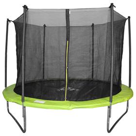 Батут DFC JUMP 10ft складной, сетка, чехол, apple green (305см)