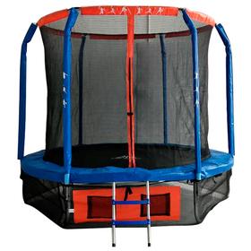 Батут DFC JUMP BASKET 6 ft, d=183 cм, внутренняя сетка, лестница