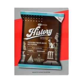 Тетрадь предметная «Пачки чипсов», 48 листов в клетку «История», обложка мелованный картон, УФ-лак