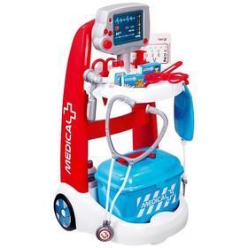 Детская медицинская тележка электронная, 16 аксессуаров