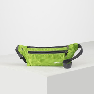 Bag on the belt 8073, 30*1*10, otd 2 zip green