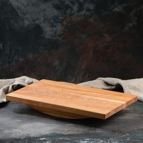 """Доска балансировочная, для развития """"Простая"""", 49х30 см, массив ясеня"""