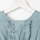 """Платье для девочки KAFTAN """"Горошек"""" р.34 (122-128), зелёный - фото 105696930"""