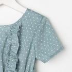 """Платье для девочки KAFTAN """"Горошек"""" р.34 (122-128), зелёный - фото 105696931"""