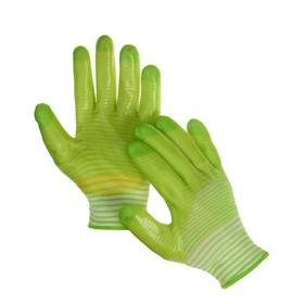 Перчатки текстильные, с PVC пропиткой, зелёные, Greengo