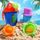 """Набор для купания """"Подводные жители"""": пластиковые игрушки + ведерко - фото 105529328"""