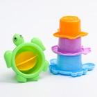 """Набор для купания """"Подводные жители"""": пластиковые игрушки + ведерко - фото 105529331"""