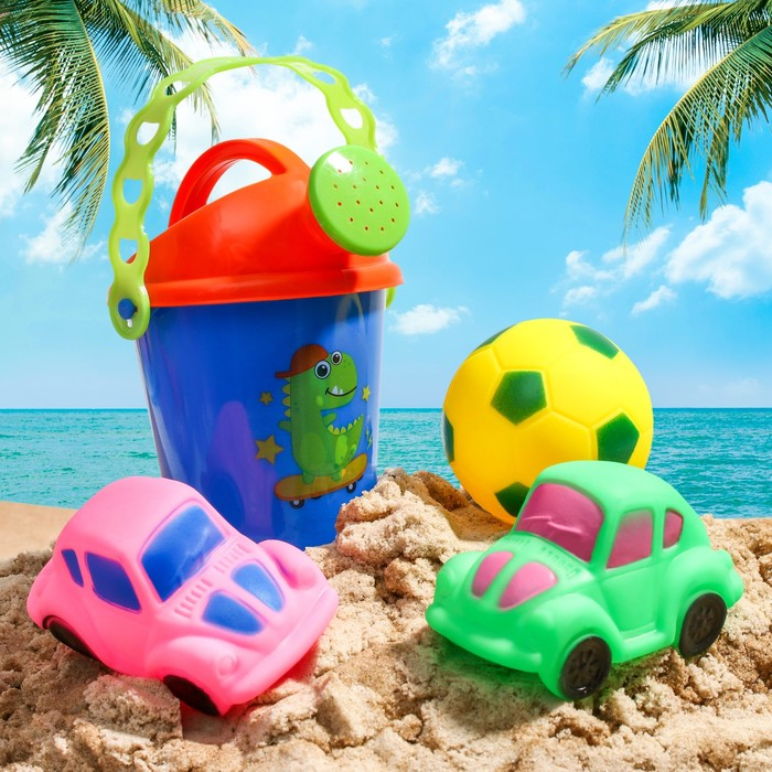 """Набор для купания """"Для малыша"""": резиновые игрушки + лейка, цвет МИКС"""